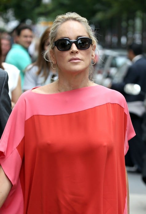 Sharon Stones nipples are all the rage in Paris.