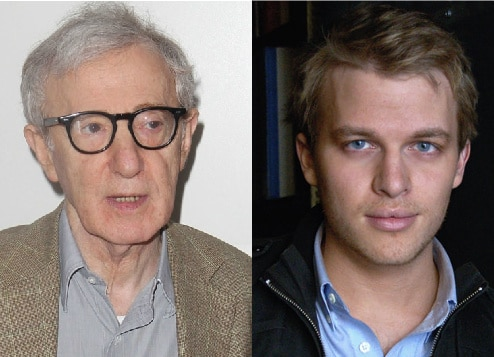 Woody Allen and son Ronan Farrow.
