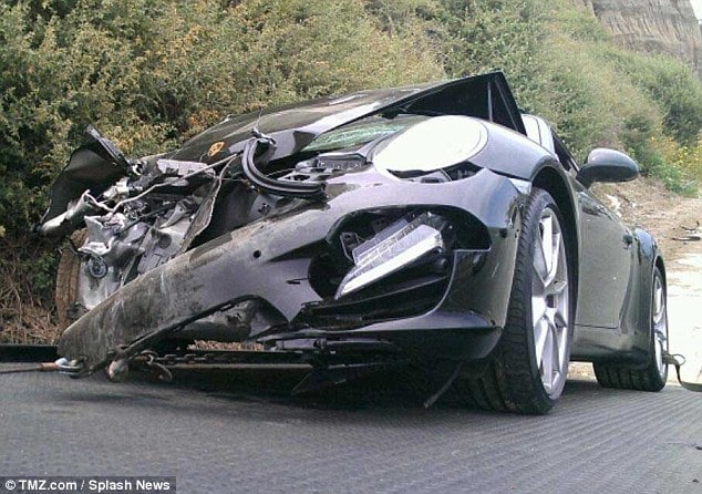My hot mess Lindsay Lohan crashes her Porsche. Rushed to hospital.