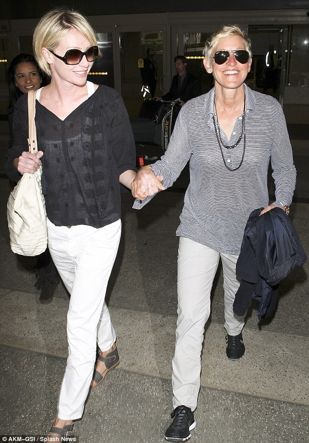 Portia de Rossi and Ellen Degeneres. Could they possibly the world's happiest couple?