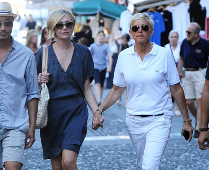 Ellen DeGeneres has a romantic walk with her actress wife Portia De Rossi in Portofino