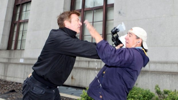 Alec Baldwin striking