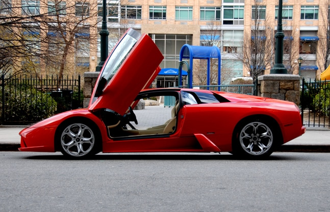Red lamborghini. The right accessory might see you getting closer or not...