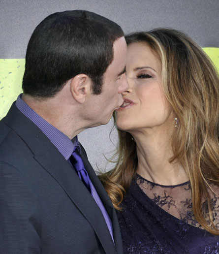 John Travolta and Kelly Preston. Kelly: 'Yes Johnny, just like the way we last did it in 1989.''