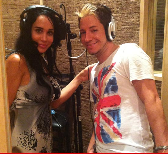 Octomom with Adam Barta who will also be featured on her debut single: