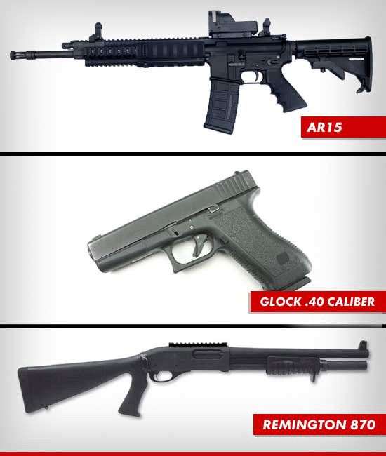The above are the guns that James Holmes owned