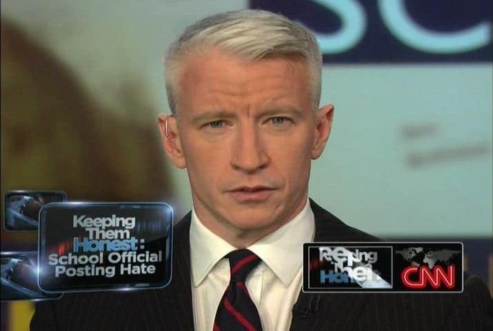 Anderson Cooper publicly comes out and admits hes gay. Still my heart throb...