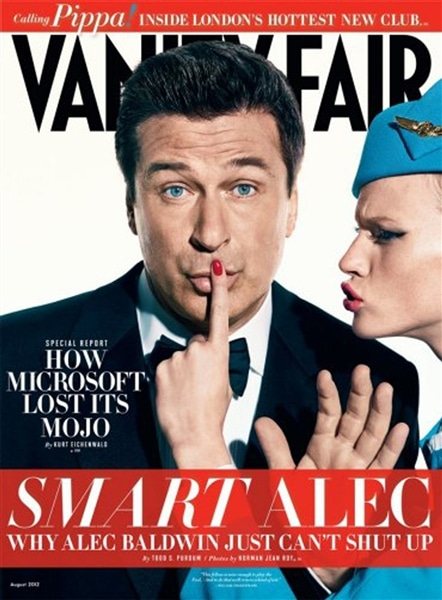 Alec Baldwin makes it on Vanity Fair cover.