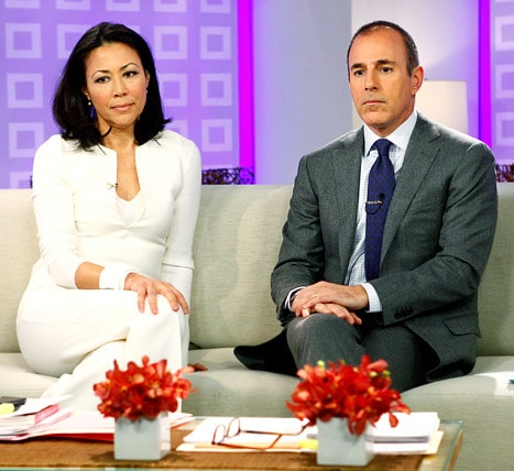 Ann Curry and Matt Lauer. Icy cool