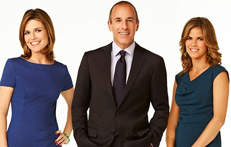 Savannah Guthrie, Matt Lauer and Natalie Morales.