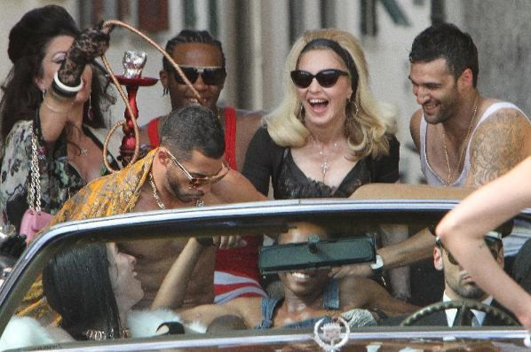 Madonna tears it up in 'Turn up the radio.'