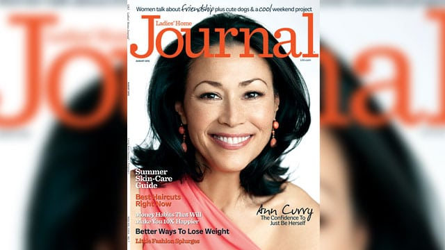 Ann Curry for Ladies Home Journal August cover