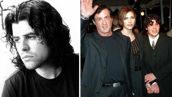 Sage Stallone inset. Sylvester Stallone, Sasha Czack and Sage Stallone
