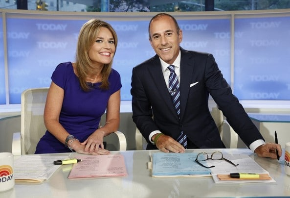 Ann Currys replacement Savannah Guthrie waxes girlish charm with giggly Matt Lauer