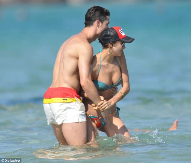 Summer has indeed arrived as Christiano Ronaldo and Irina S take to the water.