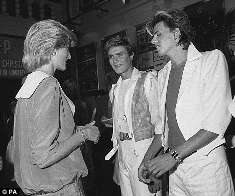 Lady Di Spencer with the lads of Duran Duran in their former hey day of the 80's.