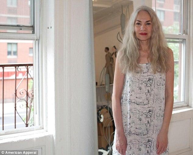 American Apparels new model Jacky has endless legs, killer cheekbones and grey hair...