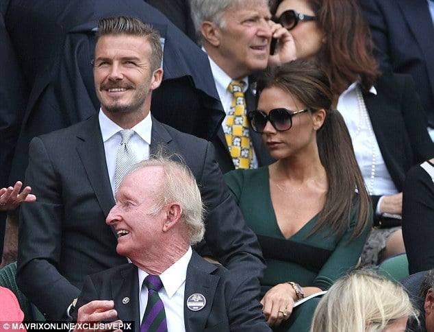 Victoria Beckham wasnt particularly impressed by the Wimbledon tennis thank you very much!