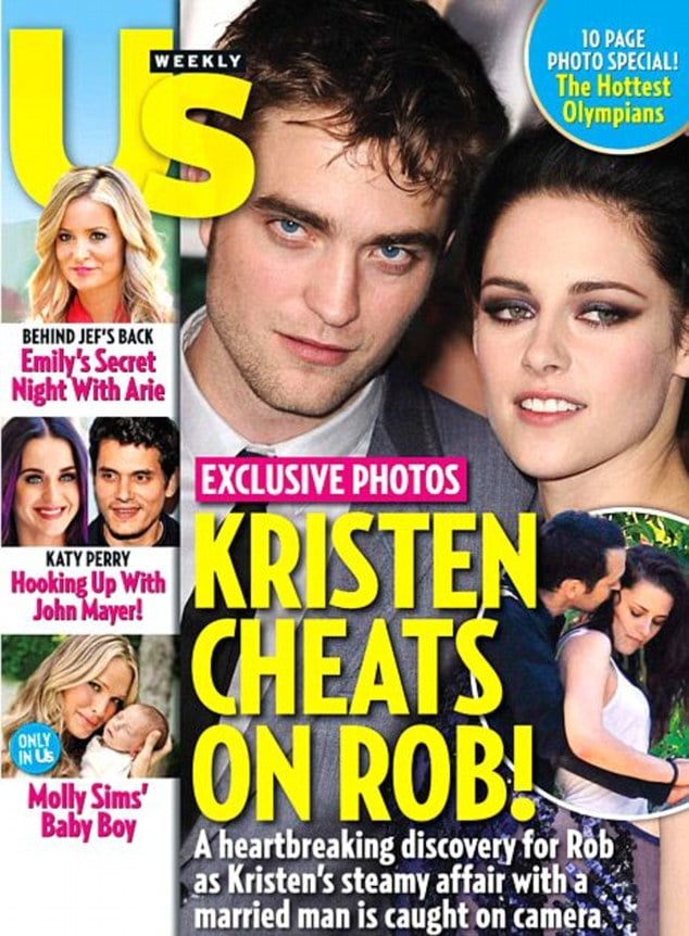 US Weekly cover of Robert Pattinson and Kristen Stewart with