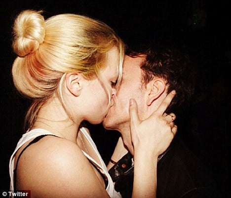 Birthday girl: Francesca posted a snap on Twitter today of her kissing her photographer boyfriend Tyler Shields.