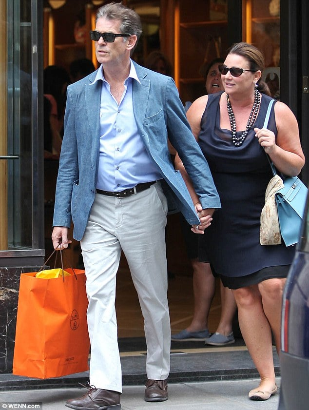 Pierce Brosnan and Keely