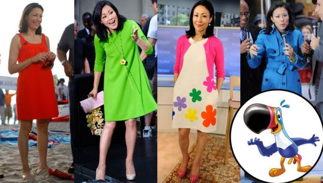 Ann Curry is too colorful? Image via dailymail.co.uk