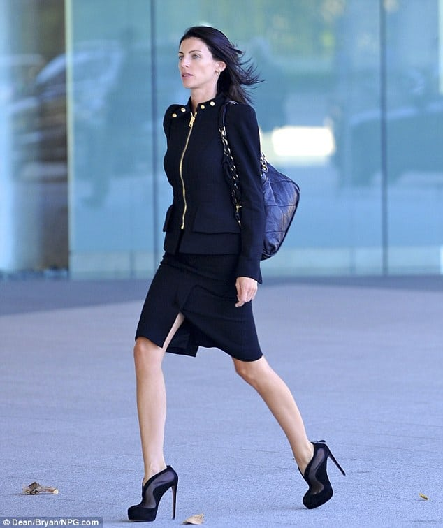 Liberty Ross as photographed without her wedding band.