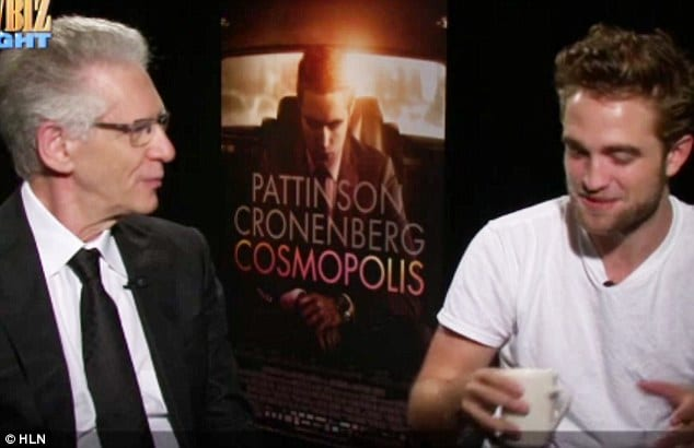 David Cronenberg with Robert Pattinson