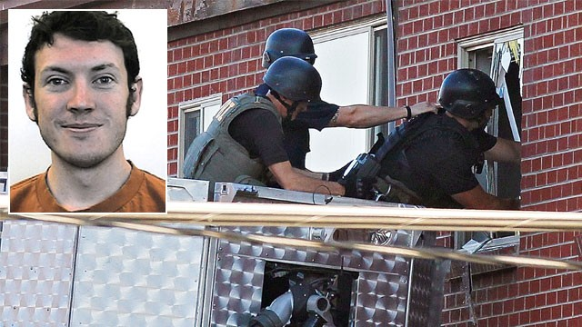 Bomb experts raiding James Holmes residence