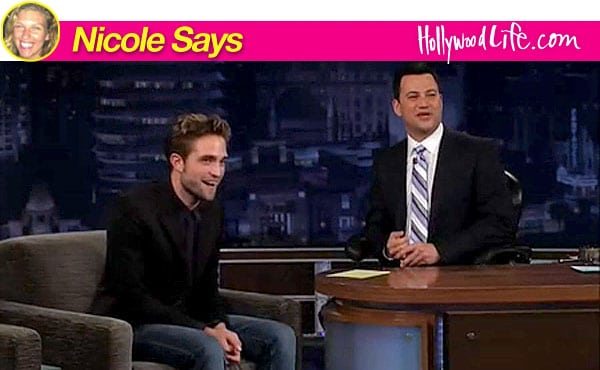 Robert Pattinson on Jimmy Kimmel. Looking less than his usual stellar hawt bixch self...