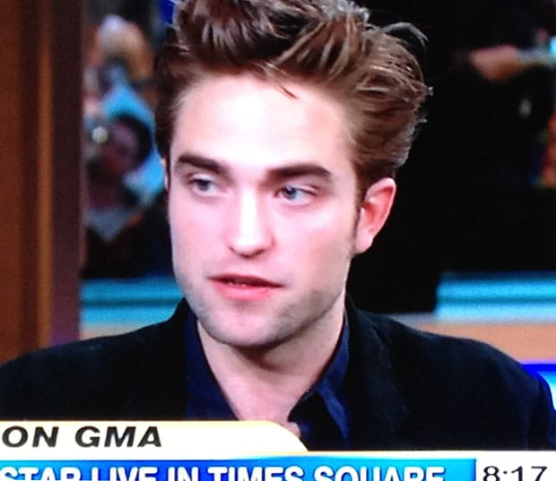 Robert Pattinson appeared on Good Morning America this morning