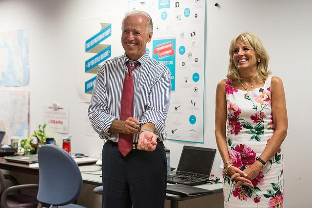 Joe and Jill Biden, cause sometimes you've just got to laugh...