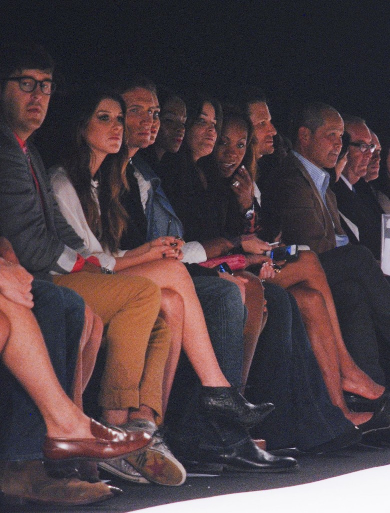 Oh my! Pippa Middleton and Ryan Lochte sit front row at Rebecca Minkoff Spring 2013 collection.