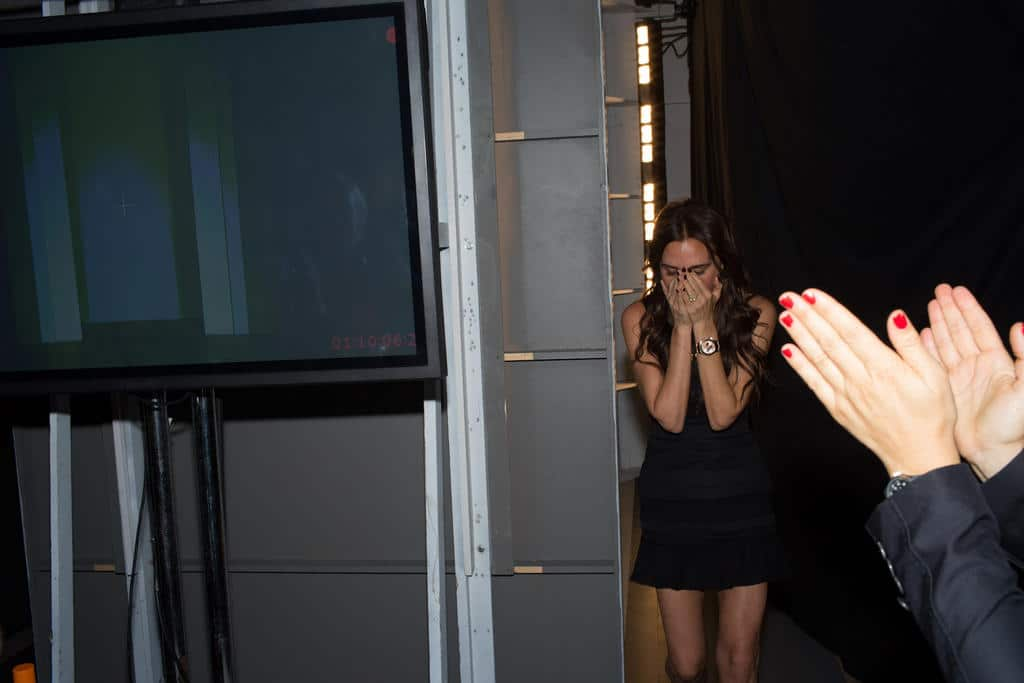 Victoria Beckham via twitter. Tweeted the designer: Relieved!!! Can't believe it's over. Thank you #vbteam!!! #vbss13 #nyfw X vb pic.twitter.com/YihsZ1pR