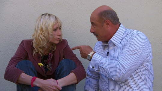 Jael Strauss and Dr Phil.