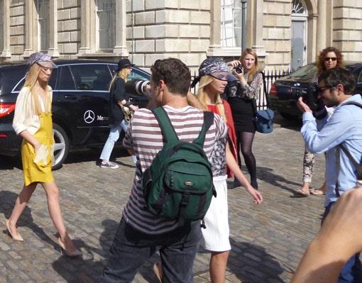 London fashion week. Impromptu show...