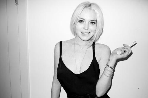 Lindsay Lohan. 'Who me?'