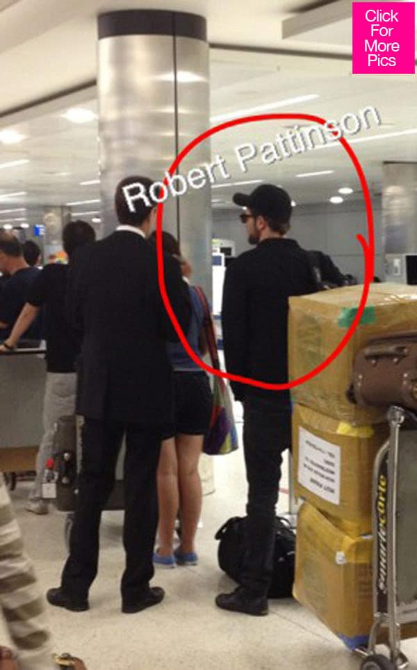 Robert Pattinson spotted at LAX over the weekend.