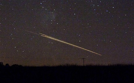 Picture of meteorite shower over Northern England.