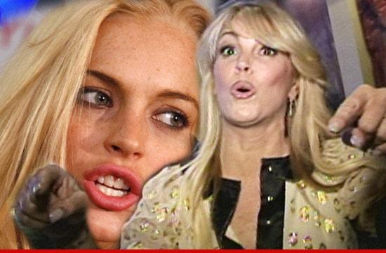Lindsay Lohan and Dina Lohan. Image via tmz.