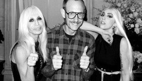 Donatella Versace, Terry Richardson and Lady Gaga.