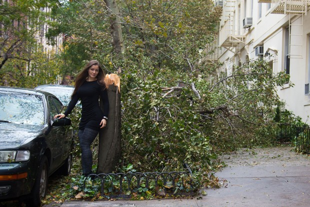 Brazils Nana Gouvêa wants to share with you her latest modeling shoot post Hurricane Sandy.