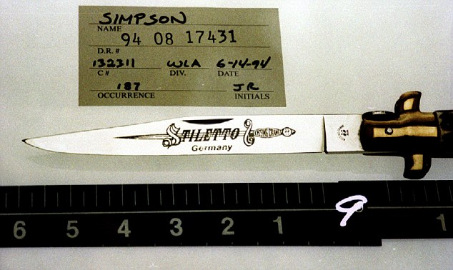 OJ Simpson said to be shopping knife he used to kill Nicole Brown Simpson and Ronald Goldman for $5 million.