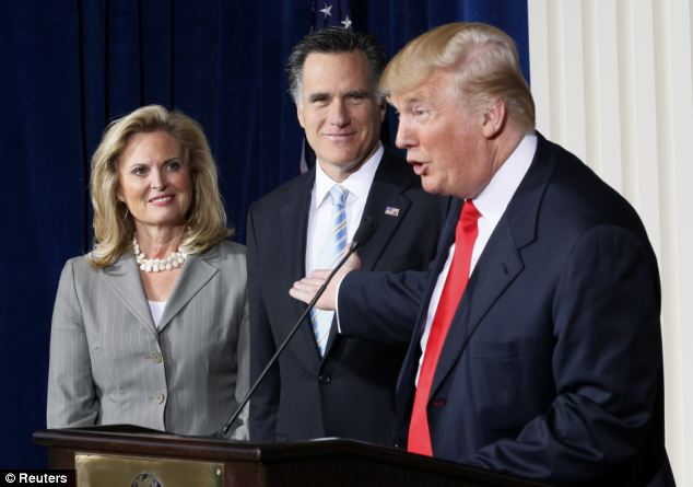 Donald Trump with Mitt Romney whom he has openly endorsed....