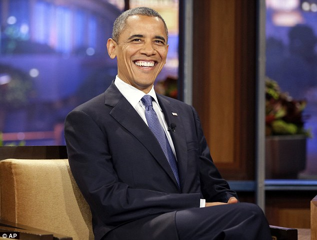 Donald Trumps announcement is lampooned by Barack Obama on Jay Lenos Tonight show.