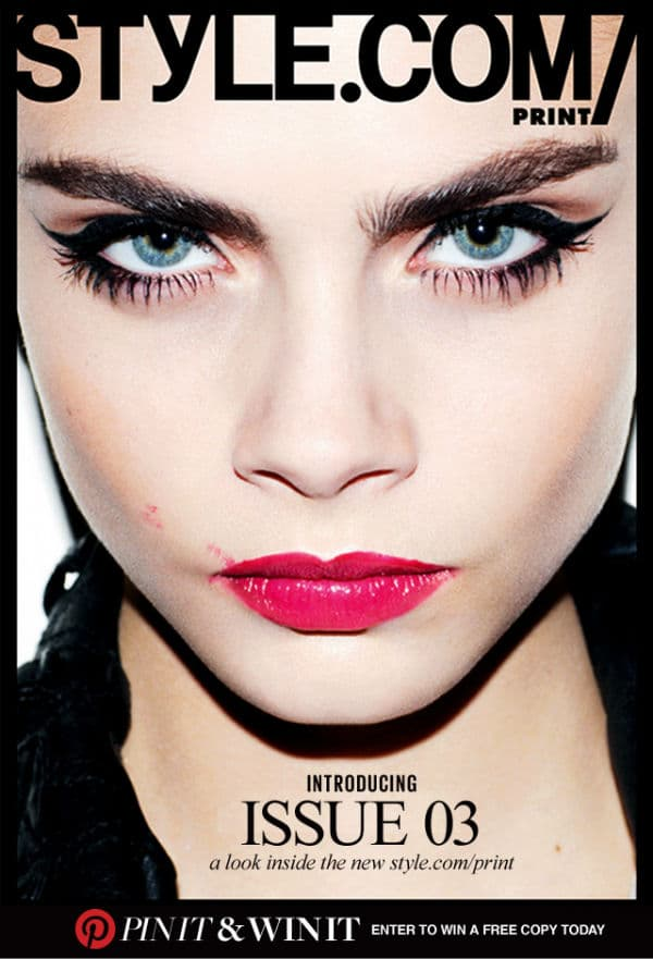 This fall smudged lips will be in vogue…just ask Cara Delevinge for style.com