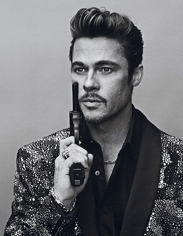 Heres Brad Pitt playing dress up for Interview Magazine. Which image do you like?
