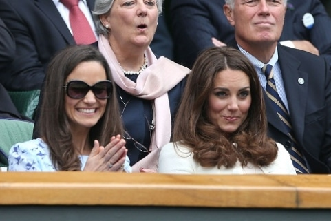 Pippa and Kate Middleton. Kate to Pippa: 'Stop riding off my coat tails bixch!'