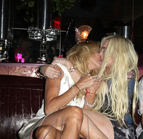 Dina Lohan and Lindsay Lohan. Just another day at the office.