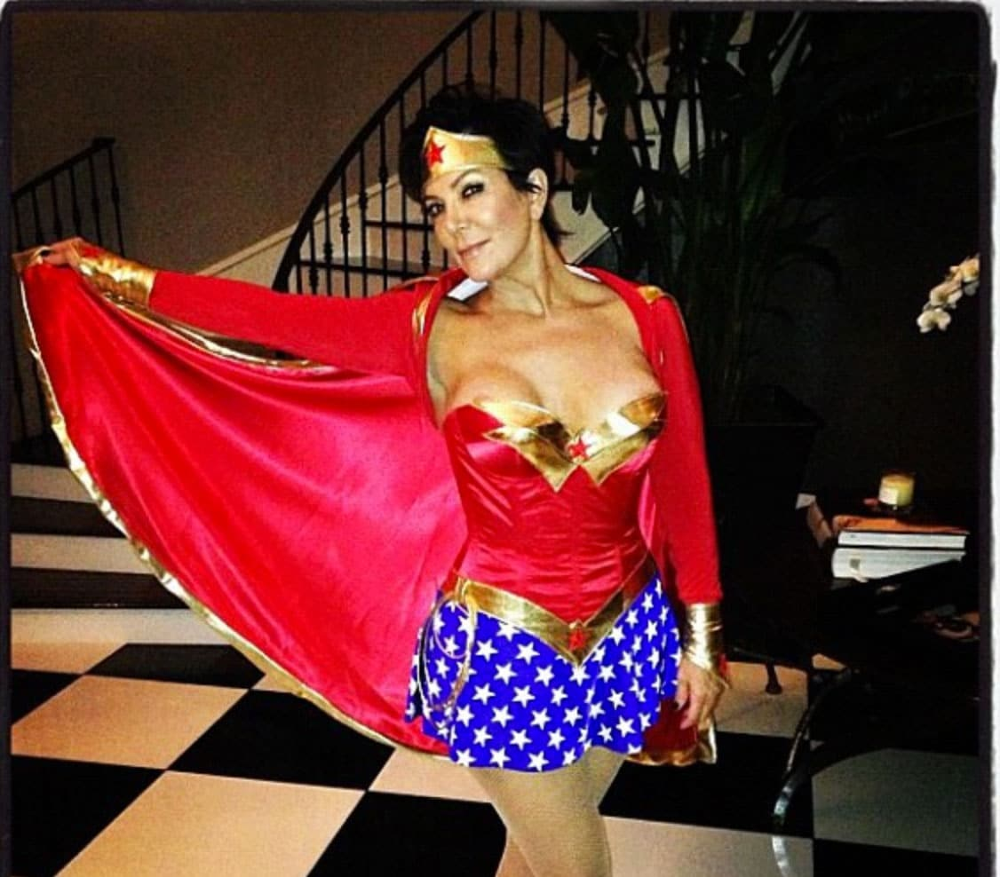 Kris Jenner is wonder woman and Monday morning's preferred hawt bixch...